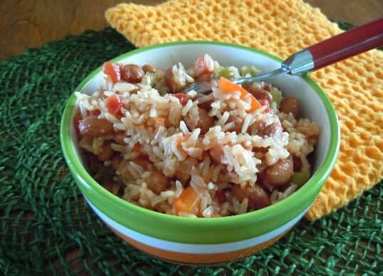 Spanish Rice for display for Tips for Freezing Food.