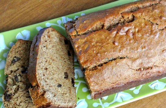 Vegan Applesauce Bread with Fresh Apple