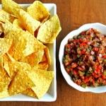 Bell Pepper Bruschetta Dip and Chips