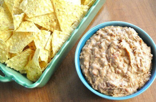 Hot Pinto Bean Dip perfect any chips or vegetables