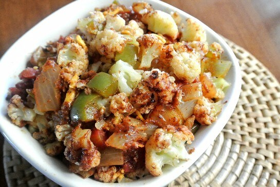 Mexican Cauliflower with wonderful spices.