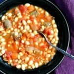 Sausage Stew with Beans and Corn - so good.