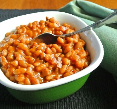 BBQ Baked Beans in the Slow Cooker