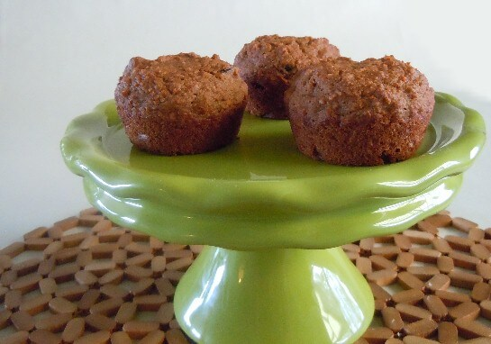 Carrot Applesauce Muffins on a Stand