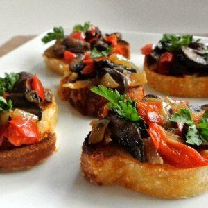 Cremini Mushroom Bruschetta 545