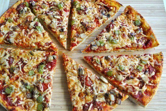 Pizza slices looking very yummy!