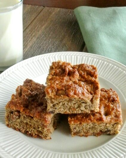 Banana Bread Squares moist and ready for breakfast or a snack.