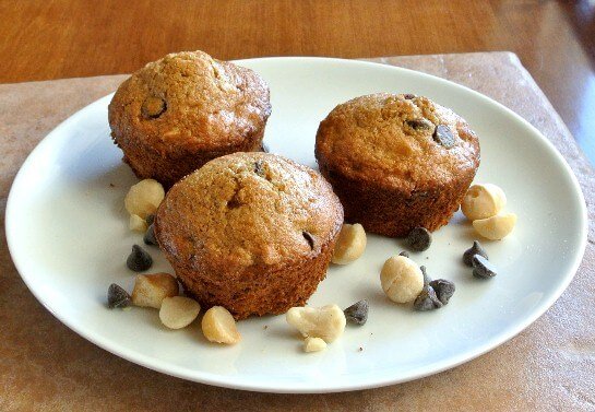 Macadamia Chocolate Chip Muffins Bliss