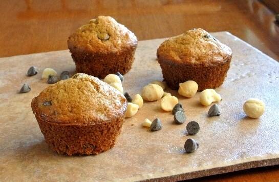Macadamia Chocolate Chip Muffins Slated