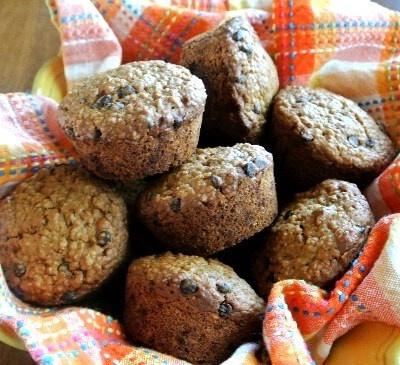 Irish Oatmeal Chocolate Chip Muffins