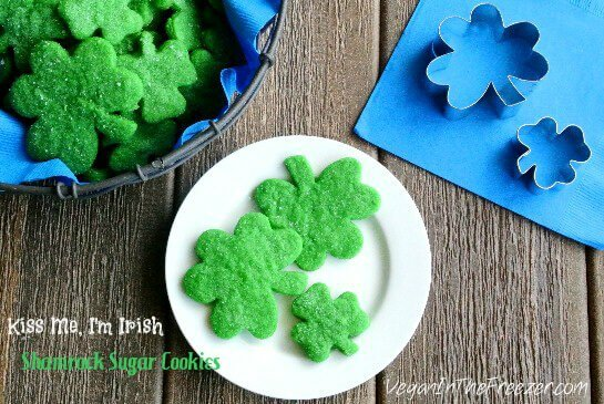 Kiss Me, I m Irish - Shamrock Sugar Cookies - cookies that are long on goodness.