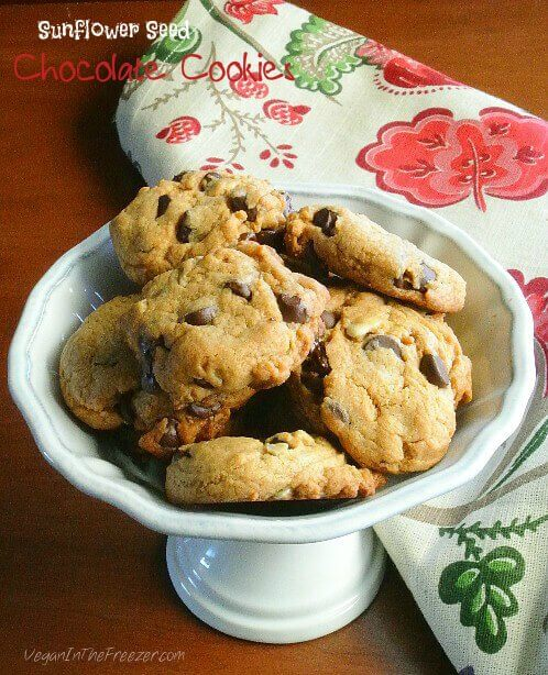 Sunflower Seed Chocolate Cookies Pin Word
