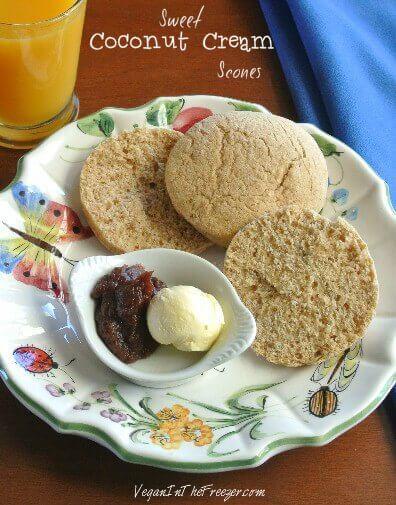 Sweet Coconut Cream Scones Pin Word