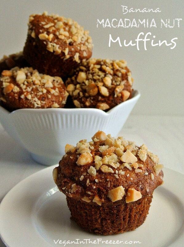 Banana Macadamia Nut Muffins Pin Word