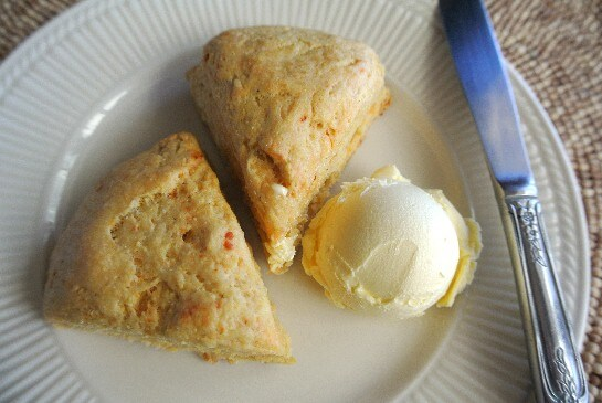 Chipotle Scones plated
