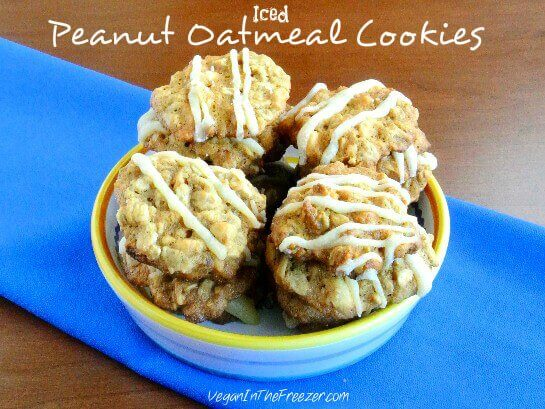 Iced Peanut Oatmeal Cookies Word