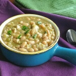 White Bean Chili ready to eat
