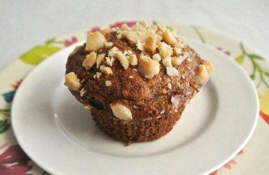 Banana Macadamia Nut Muffins