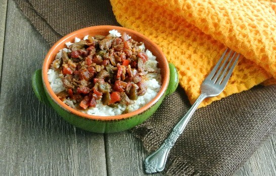 how to cook pepper steak and rice