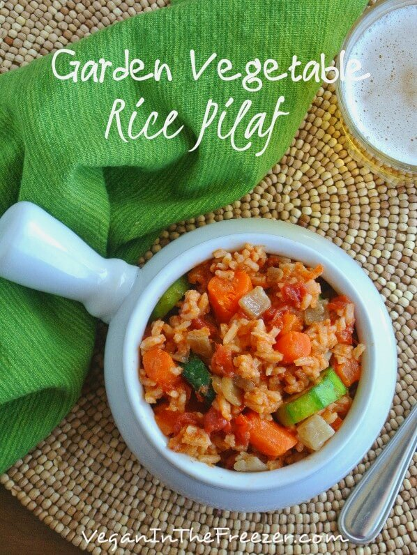 Garden Vegetable Rice Pilaf Pin Words