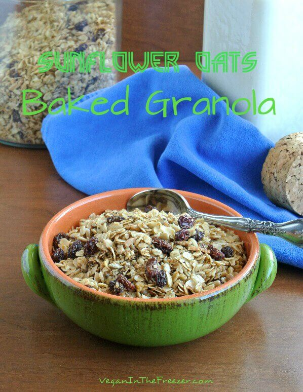 Sunflower Oats Baked Granola Pin Word