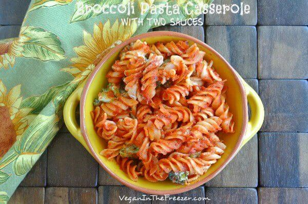 Broccoli Pasta Bake Overhead Word