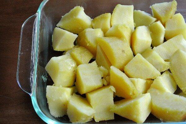 how to make sweet potato cubes