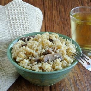 Healthy Slow Cooker Mushrooms and Rice 600