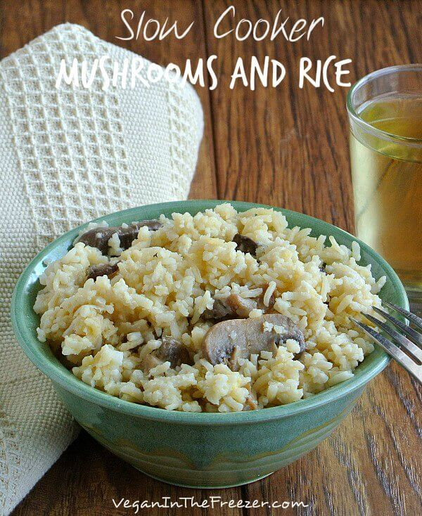 Slow Cooker Mushrooms and Rice Pin Word