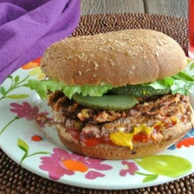 Crispy Anasazi Bean Burger