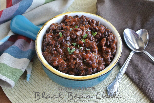 Slow Cooker Black Bean Chili Word