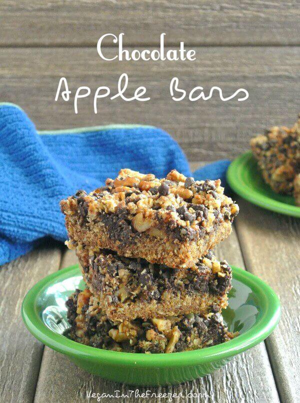 Chocolate Apple Bars Recipe   Vegan in the Freezer