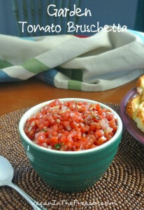 Garden Tomato Bruschetta Pin Word