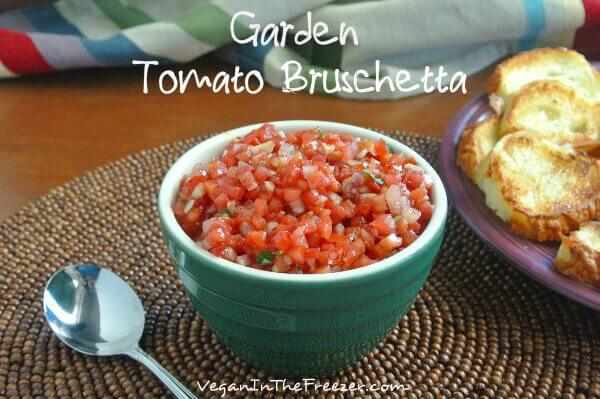Garden Tomato Bruschetta Served Word