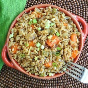 Ginger Rice Overhead