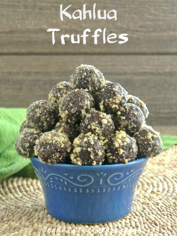 Kahlua Truffles are easy decadence. There are a few unusual ingredients that are mixed together and turned into a chocolaty delight.
