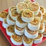 Pesto Tortilla Rollups Stacked