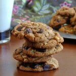 Vegan Chocolate Chip Cookies stack 600