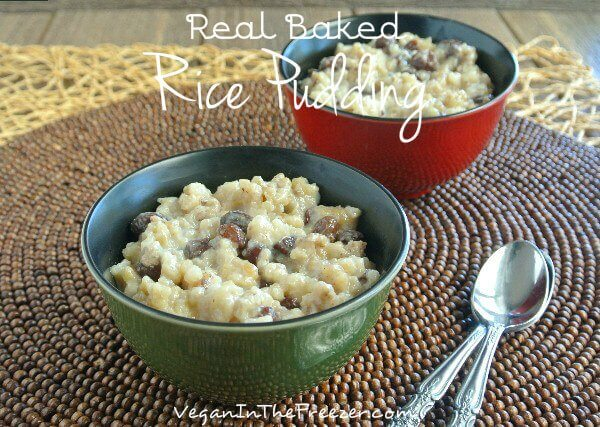Real Baked Rice Pudding Word