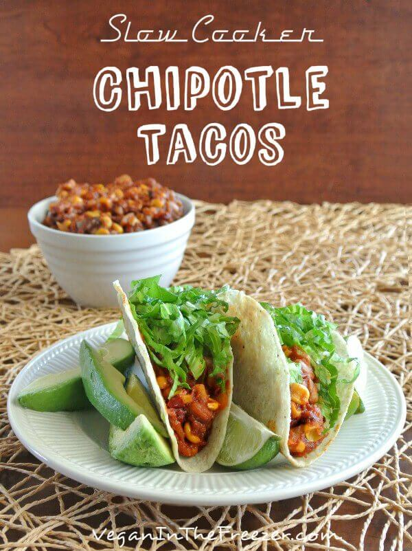 Slow Cooker Chipotle Tacos Pin Word
