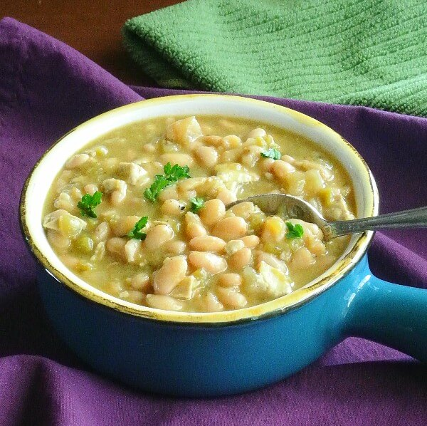 White Bean Chili from the Slow Cooker