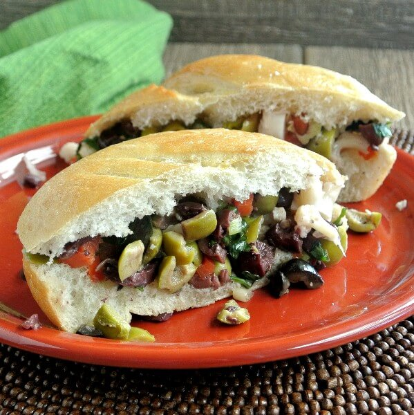 Muffuletta Sandwich is loaded with wonderful ingredients and flavors.