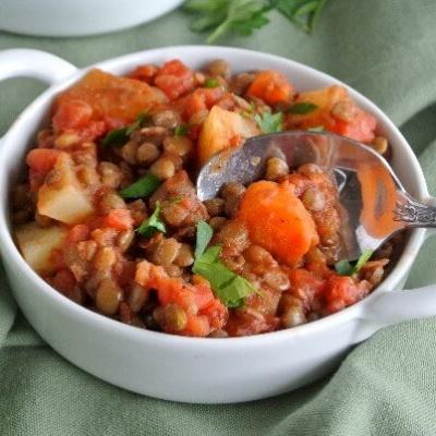 Lentil, Carrot and Potato Hash