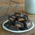 Stuffed Peanut Butter Cup Brownies