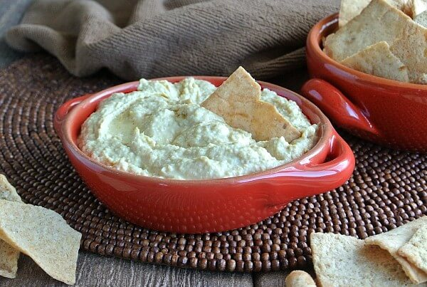 At our house Baba Ghanoush Dip is normally in a pretty good size bowl along with a big bowl of sturdy chips like pitas. Yeah, now the party can begin.