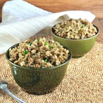 Mujadara Baked Rice and Lentils