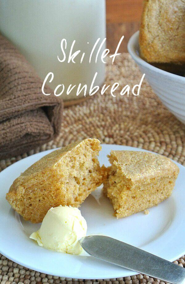 Corn Pone Skillet Cornbread comes from 'the old days' and is a great substitute for bread to go with big pots of beans, stews and soups. This is an updated version.