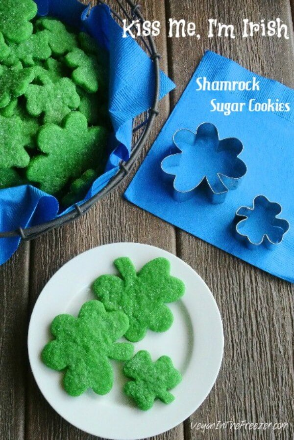 Kiss Me, I'm Irish Shamrock Sugar Cookies is a mouthful of cookie sweetness. Made with confectioners sugar the taste and texture is delicious.