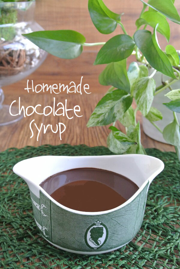 Homemade Chocolate Syrup is delectable clean eating with no preservatives or additives. So easy and this deep rich chocolate can be used for so many things.