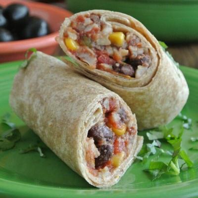 Slow Cooker Black Bean Burritos